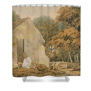 No.0735 A Country Churchyard, C.1797-98 Shower Curtain