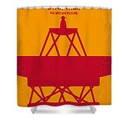 No081 My Star Trek 1 Minimal Movie Poster Shower Curtain by Chungkong Art