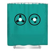 No092 My The Ipcress File Minimal Movie Poster Shower Curtain