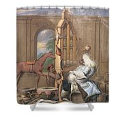 No.0961 The Charming Brute Shower Curtain