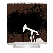 No102 My Giant Minimal Movie Poster Shower Curtain