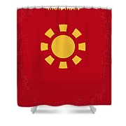 No113 My Iron Man Minimal Movie Poster Shower Curtain