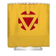 No113 My Iron Man Minimal Movie Posterno113-2 My Iron Man 2 Minimal Movie Poster Shower Curtain