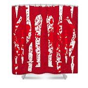 No114 My Machete Minimal Movie Poster Shower Curtain