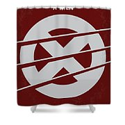 No123 My Xmen Minimal Movie Poster Shower Curtain by Chungkong Art