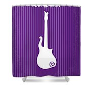No124 My Purple Rain Minimal Movie Poster Shower Curtain