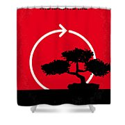 No125 My Karate Kid Minimal Movie Poster Shower Curtain by Chungkong Art
