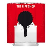 No130 My Exit Through The Gift Shop Minimal Movie Poster Shower Curtain by Chungkong Art