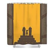 No133 My King Kong Minimal Movie Poster Shower Curtain by Chungkong Art