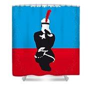 No136 My Soldier Blue Minimal Movie Poster Shower Curtain
