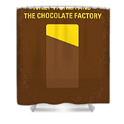 No149 My Willy Wonka And The Chocolate Factory Minimal Movie Poster Shower Curtain