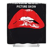No153 My The Rocky Horror Picture Show Minimal Movie Poster Shower Curtain by Chungkong Art