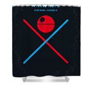 No154 My Star Wars Episode Iv A New Hope Minimal Movie Poster Shower Curtain by Chungkong Art