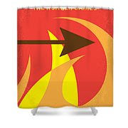 No175 My Hunger Games Minimal Movie Poster Shower Curtain