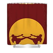 No178 My Kickboxer Minimal Movie Poster Shower Curtain