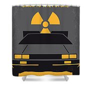 No183 My Back To The Future Minimal Movie Poster Shower Curtain by Chungkong Art
