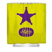 No190 My Toy Story Minimal Movie Poster Shower Curtain by Chungkong Art