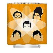 No196 My The Big Bang Theory Minimal Poster Shower Curtain