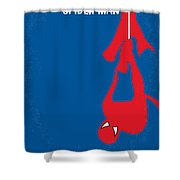 No201 My Spiderman Minimal Movie Poster Shower Curtain