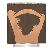 No210 My Crocodile Dundee Minimal Movie Poster Shower Curtain