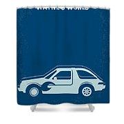 No211 My Waynes World Minimal Movie Poster Shower Curtain