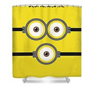 No213 My Despicable Me Minimal Movie Poster Shower Curtain