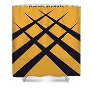 No222 My Wolverine Minimal Movie Poster Shower Curtain