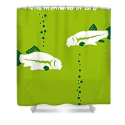 No226 My The Meaning Of Life Minimal Movie Poster Shower Curtain
