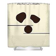 No227 My Kung Fu Panda Minimal Movie Poster Shower Curtain