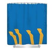 No230 My Animal House Minimal Movie Poster Shower Curtain