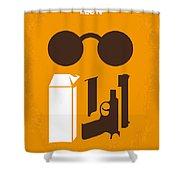 No239 My Leon Minimal Movie Poster Shower Curtain