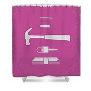 No258 My Drive Minimal Movie Poster Shower Curtain