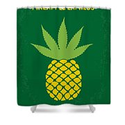 No264 My Pineapple Express Minimal Movie Poster Shower Curtain