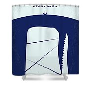 No267 My Moby Dick Minimal Movie Poster Shower Curtain