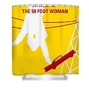 No276 My Attack Of The 50 Foot Woman Minimal Movie Poster Shower Curtain