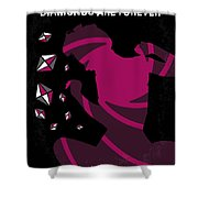 No277-007 My Diamonds Are Forever Minimal Movie Poster Shower Curtain