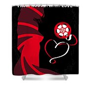 No277-007 My From Russia With Love Minimal Movie Poster Shower Curtain