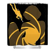No277-007 My Thunderball Minimal Movie Poster Shower Curtain