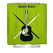 No286 My There's Something About Mary Minimal Movie Poster Shower Curtain