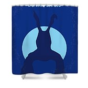 No295 My Donnie Darko Minimal Movie Poster Shower Curtain by Chungkong Art