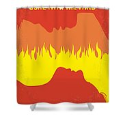 No299 My Gone With The Wind Minimal Movie Poster Shower Curtain