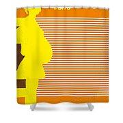 No326 My Juno Minimal Movie Poster Shower Curtain