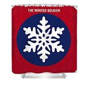 No329 My Captain America - 2 Minimal Movie Poster Shower Curtain