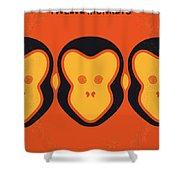 No355 My 12 Monkeys Minimal Movie Poster Shower Curtain