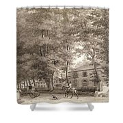 No.3933.f8 View Of The Stables On Lord Shower Curtain