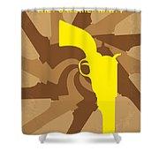 No431 My They Call Me Trinity Minimal Movie Poster Shower Curtain