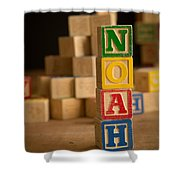 Noah - Alphabet Blocks Shower Curtain