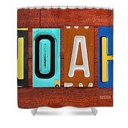 Noah License Plate Name Sign Fun Kid Room Decor. Shower Curtain