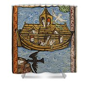 Noahs Ark, 1190 Shower Curtain by Getty Research Institute