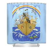 Noah's Ark Shower Curtain by Alison Stein